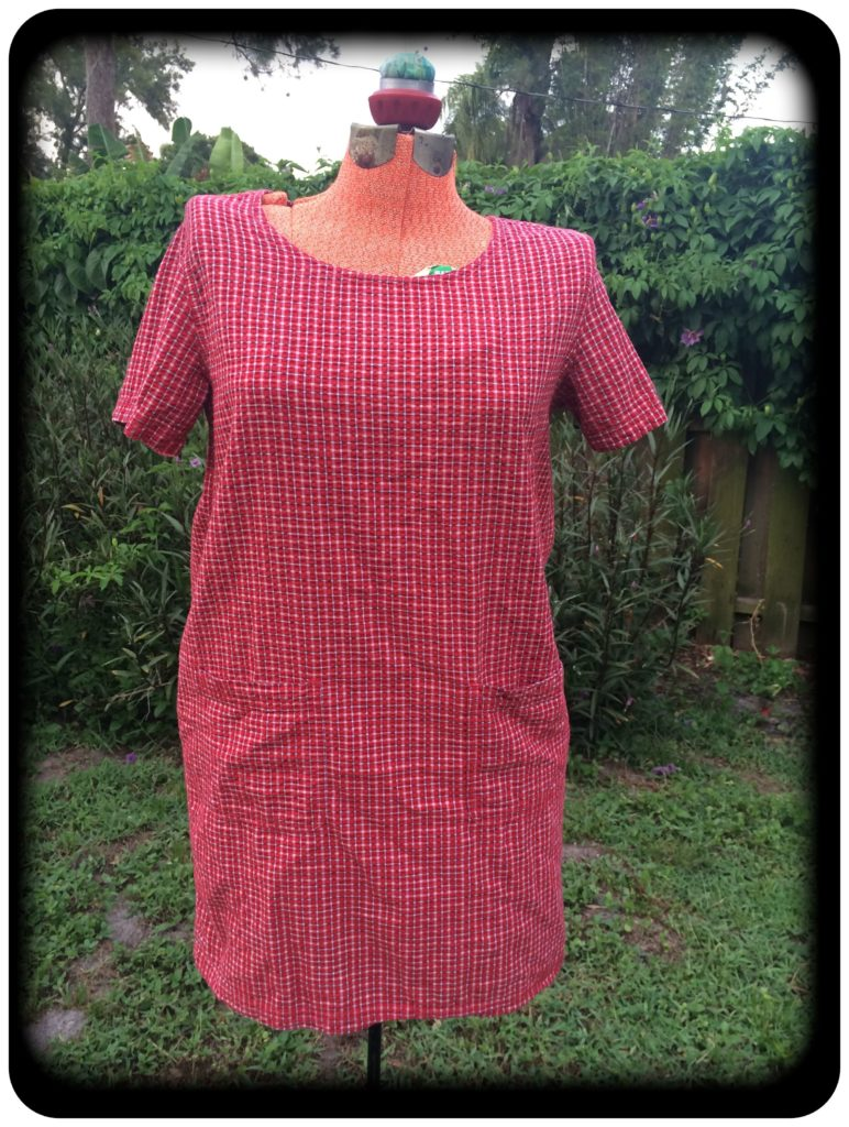 red dress before upcycling