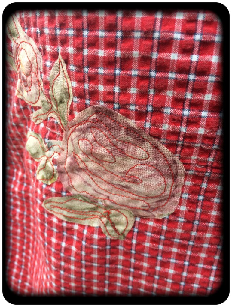 upcycled dress flower applique