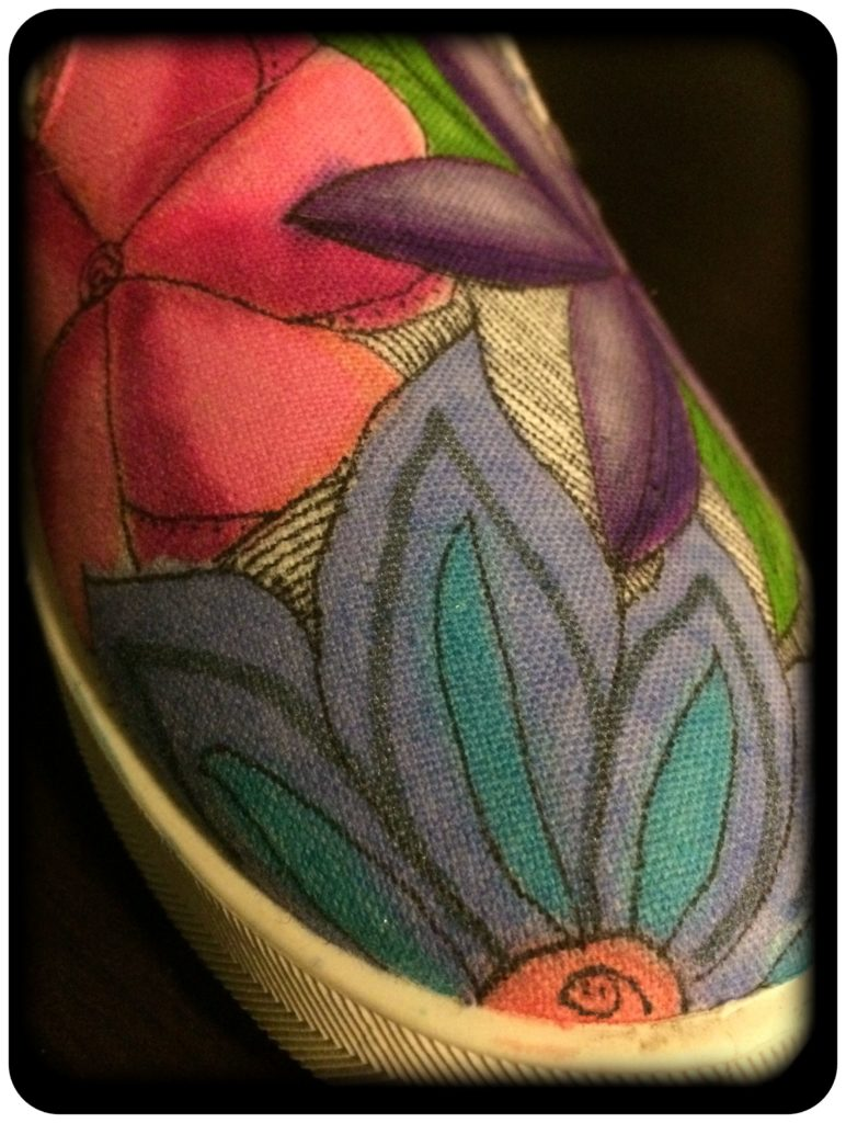 Other flowers sharpie sneakers